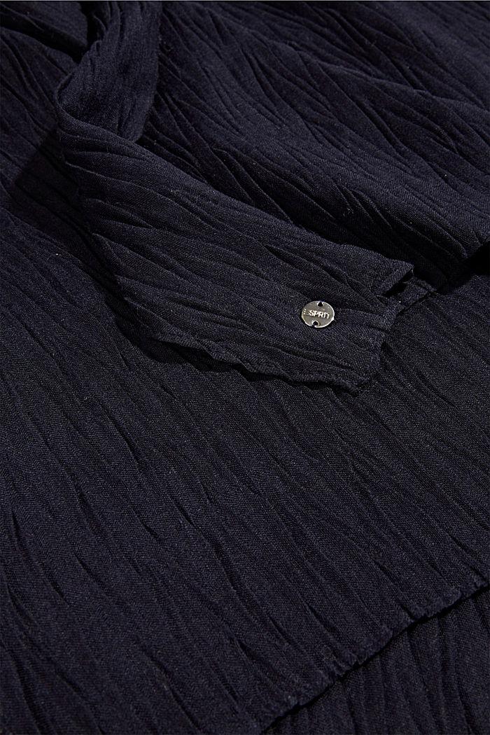 Gerecycled: sjaal met plooien, NAVY, detail image number 2