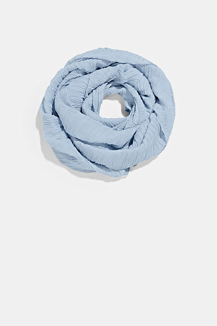 Recycled: Scarf with accordion pleats, PASTEL BLUE, detail image number 0