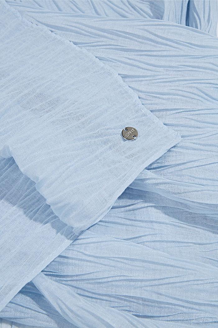 Recycelt: Schal mit Plissee-Falten, PASTEL BLUE, detail image number 2