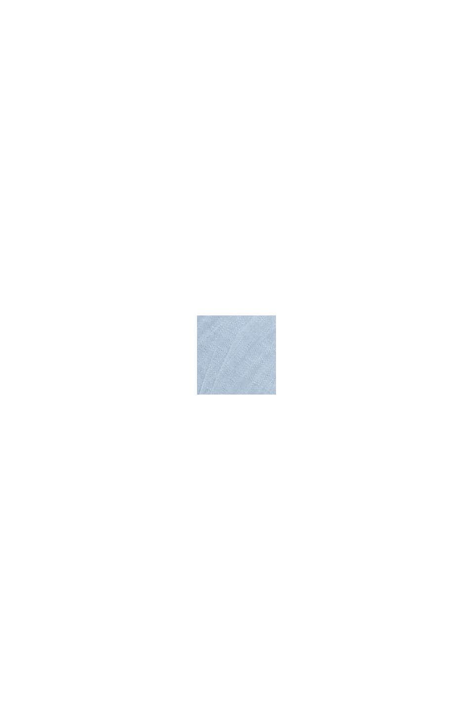 Recycelt: Schal mit Plissee-Falten, PASTEL BLUE, swatch