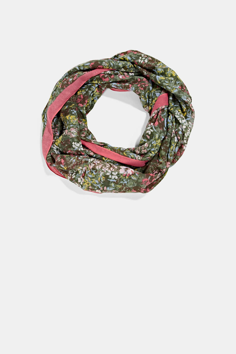 Esprit - Recycled: Woven scarf with flora print