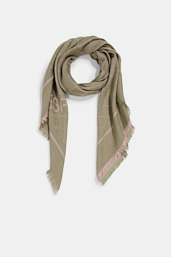 Sjaal met monogram en LENZING™ ECOVERO™