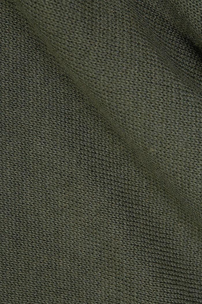 En matière recyclée et à teneur en laine: le poncho à pans en pointe, KHAKI GREEN, detail image number 2
