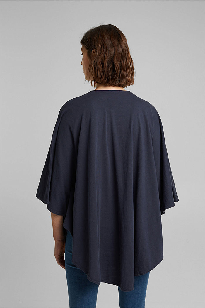 EarthColors® poncho in organic cotton, NAVY, detail image number 3