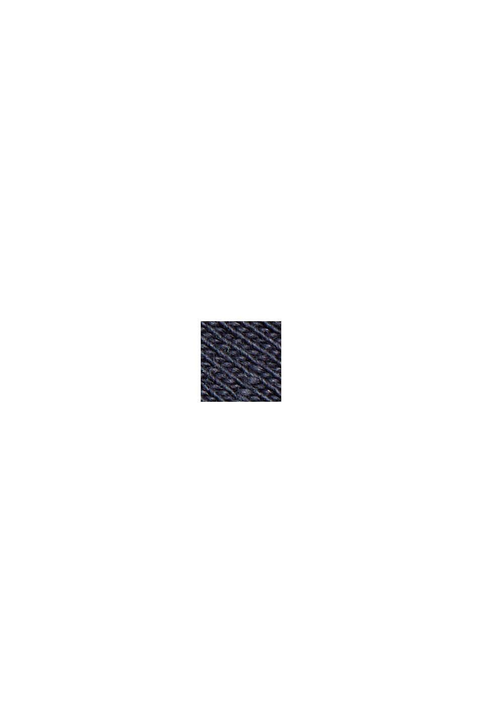 Poncho EarthColor®, coton biologique, NAVY, swatch