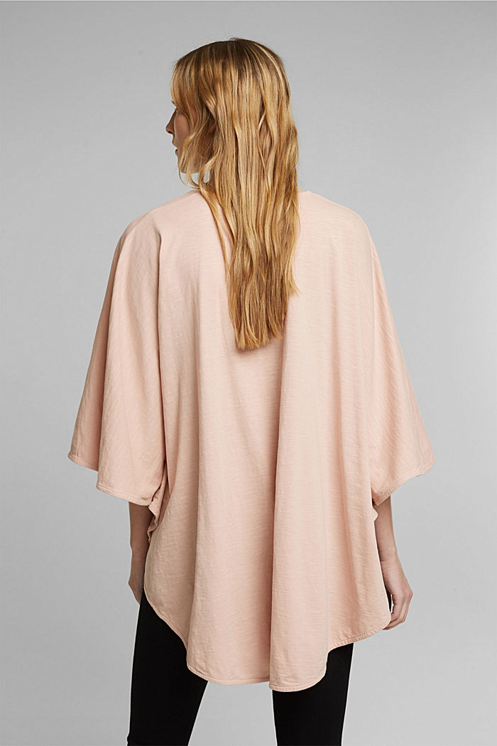 EarthColors® poncho in organic cotton, NUDE, detail image number 4
