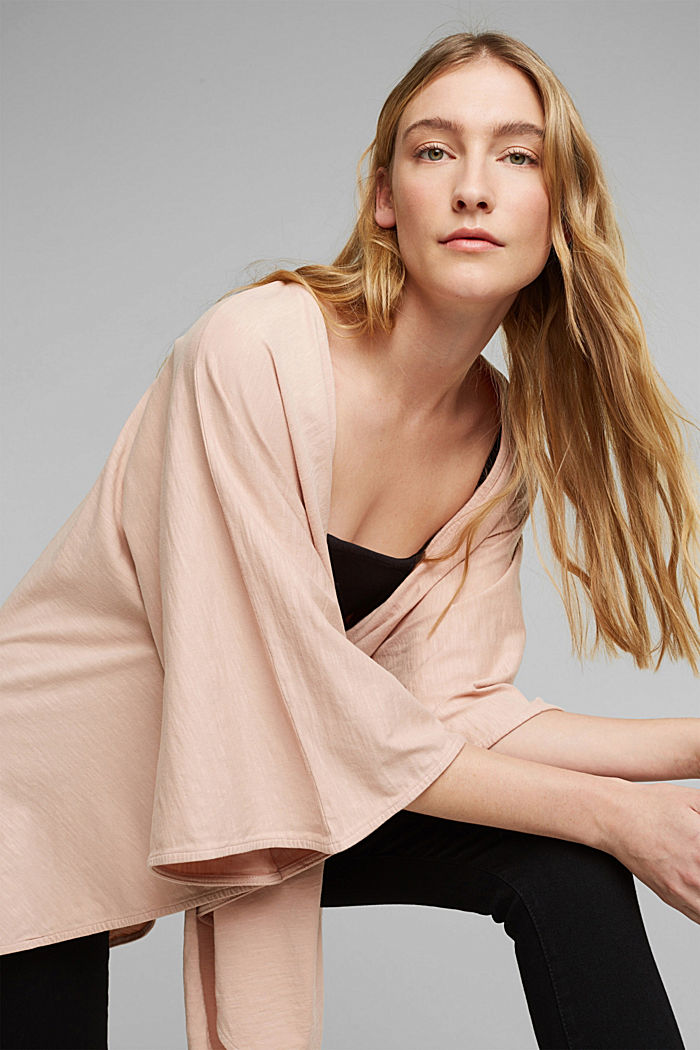 EarthColors® poncho in organic cotton, NUDE, detail image number 5