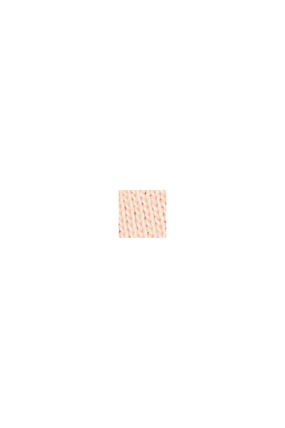 Poncho EarthColor®, coton biologique, NUDE, swatch