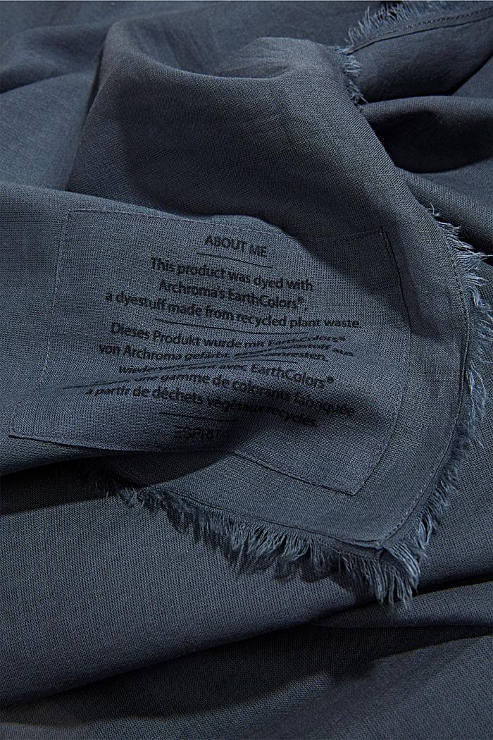 EarthColors®: sjaal van biologisch katoen, NAVY, detail image number 2