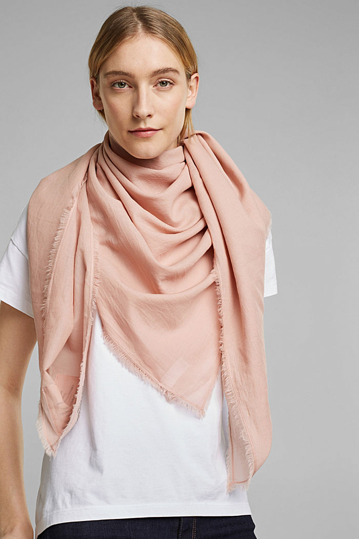 EarthColors®: scarf made of organic cotton, NUDE, detail image number 1
