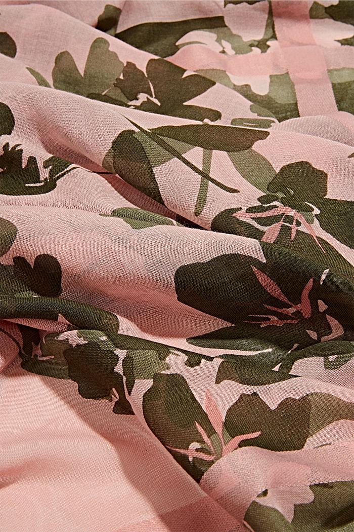 Geweven sjaal met LENZING™ ECOVERO™, NUDE, detail image number 2