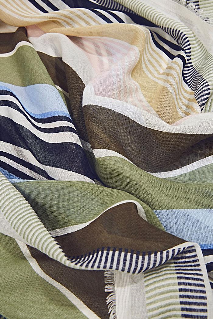 Geweven sjaal met LENZING™ ECOVERO™, KHAKI GREEN, detail image number 2