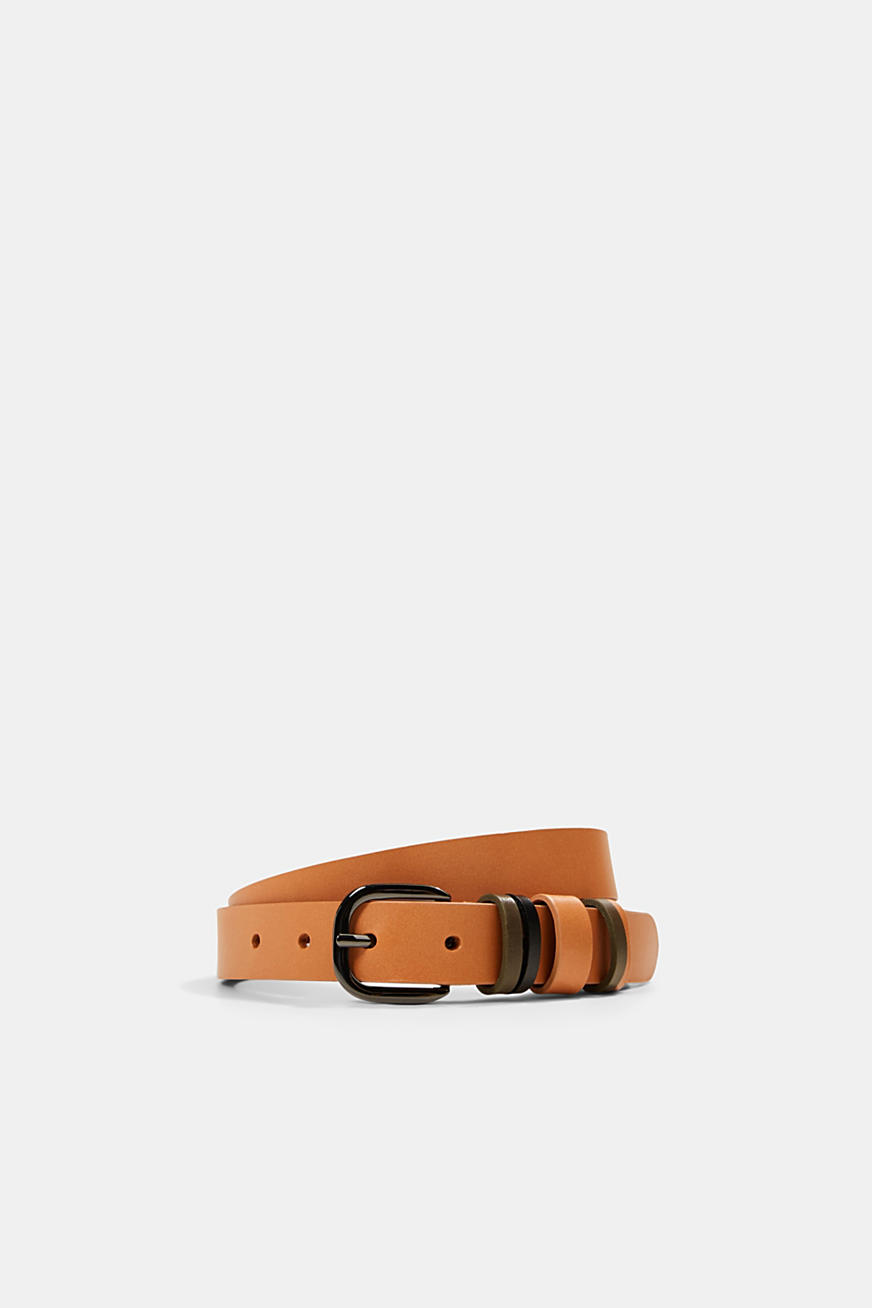 Leather belt with multiple loops