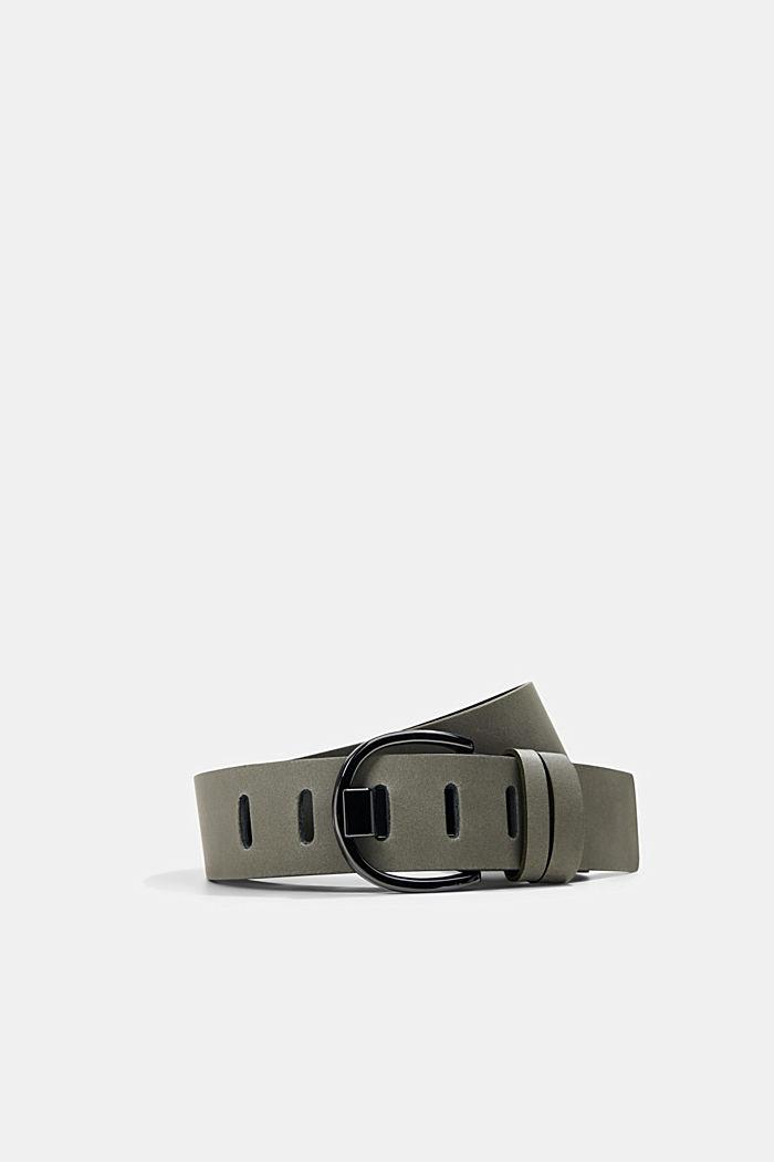 Cinturón de piel curtida sin empleo de cromo