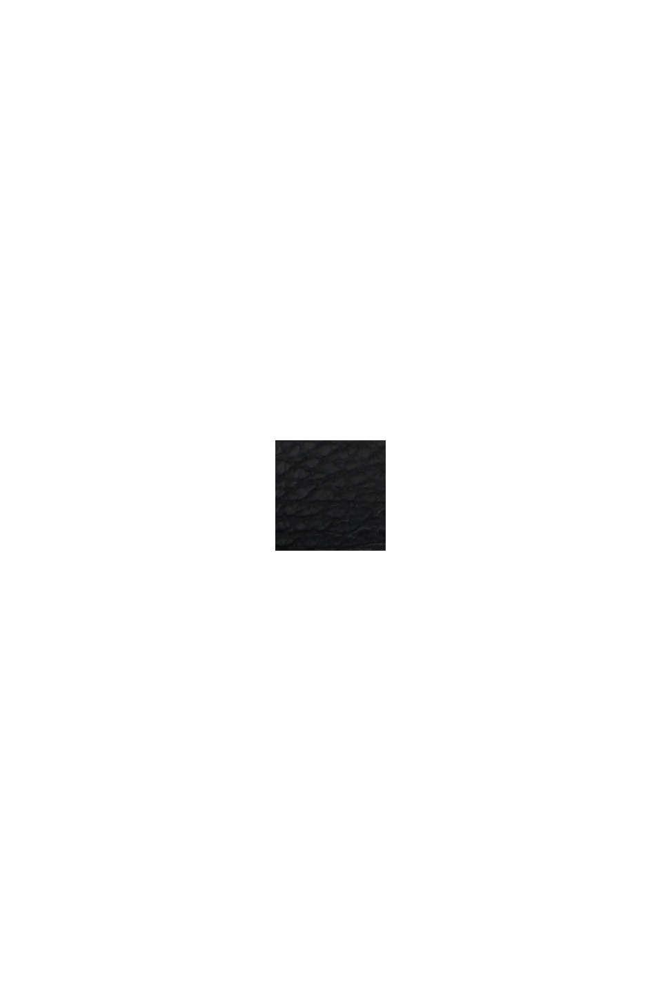 Brett midjeskärp i mjukt skinn, BLACK, swatch
