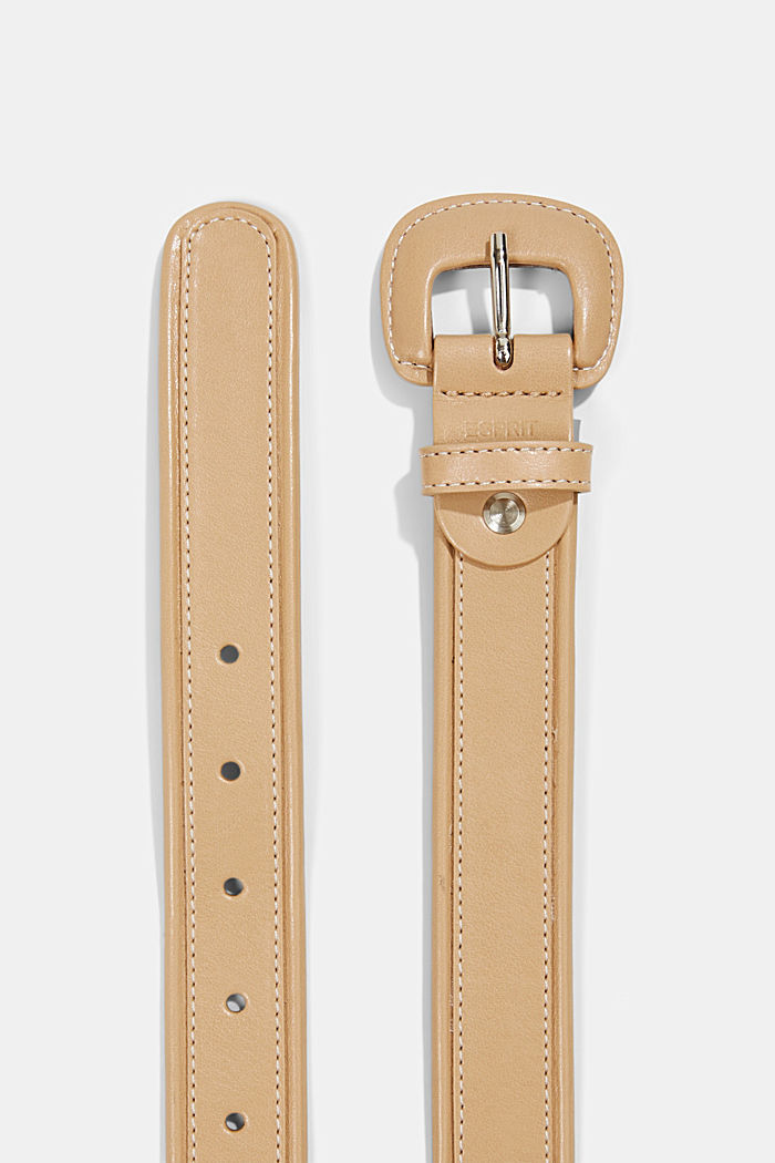 Belt with a covered pin buckle, CAMEL, detail image number 1