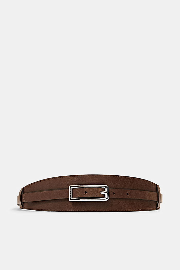 Genuine leather waist belt, RUST BROWN, detail image number 0