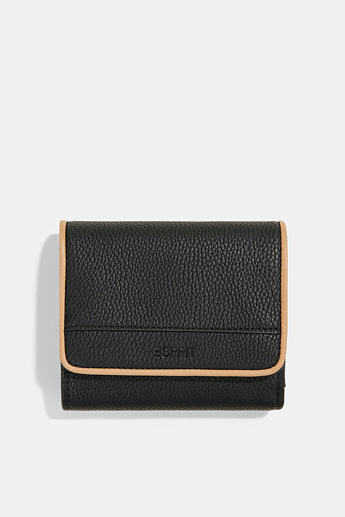 Susie T. faux leather wallet, vegan, BLACK, detail image number 0