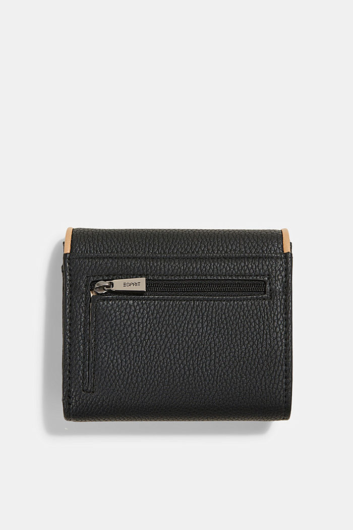 Susie T. faux leather wallet, vegan, BLACK, detail image number 1