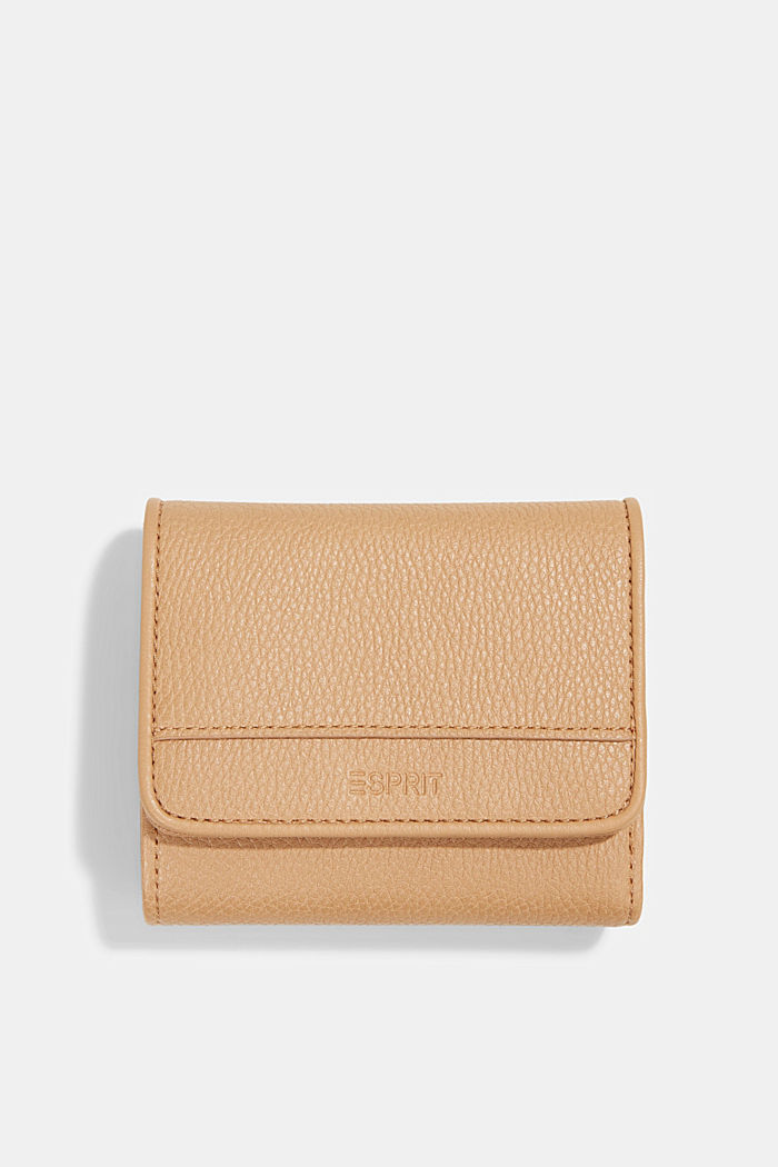 Susie T. faux leather wallet, vegan, CAMEL, detail image number 0