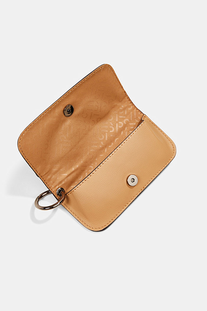 Hallie T.: glasses pouch with a metal ring, CAMEL, detail image number 2