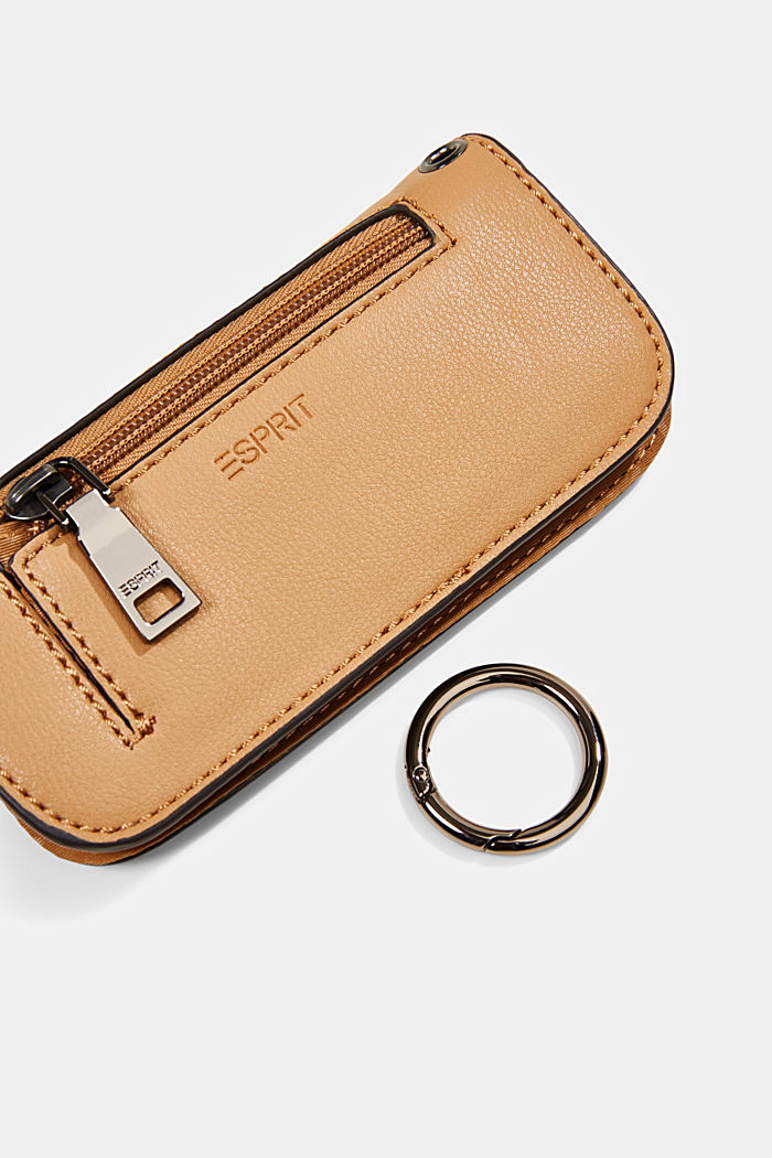 Hallie T.: glasses pouch with a metal ring, CAMEL, detail image number 1