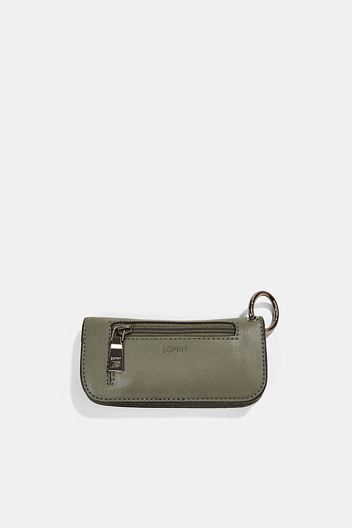 Hallie T.: glasses pouch with a metal ring, OLIVE, detail image number 1