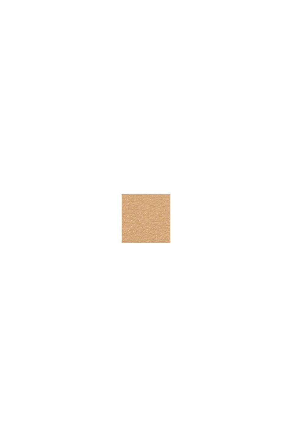 Hallie T. Kosmetik-Tasche in Leder-Optik, CAMEL, swatch