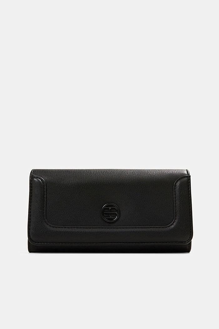 Vegan: Wallet with monogram, BLACK, detail image number 0