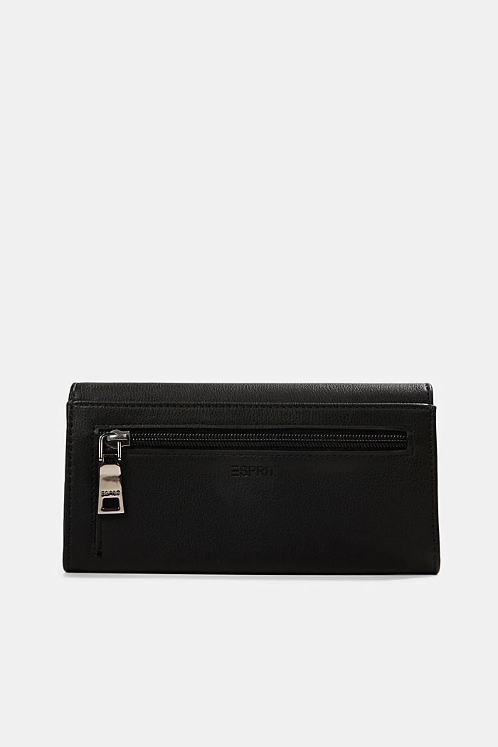 Vegan: Wallet with monogram, BLACK, detail image number 1