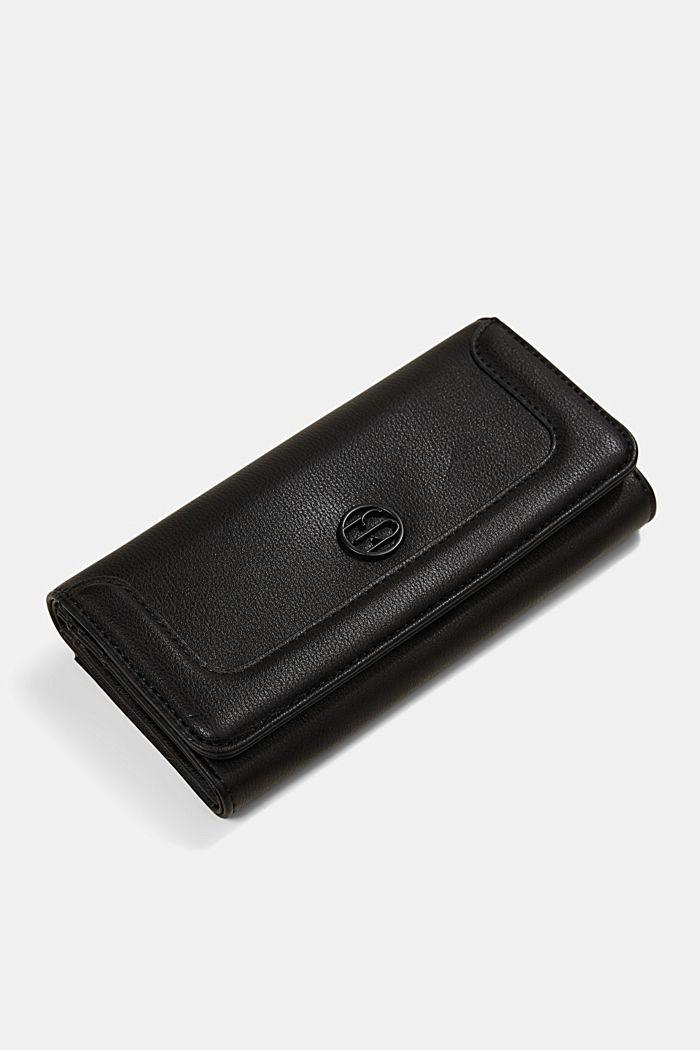 Vegan: Wallet with monogram, BLACK, detail image number 3