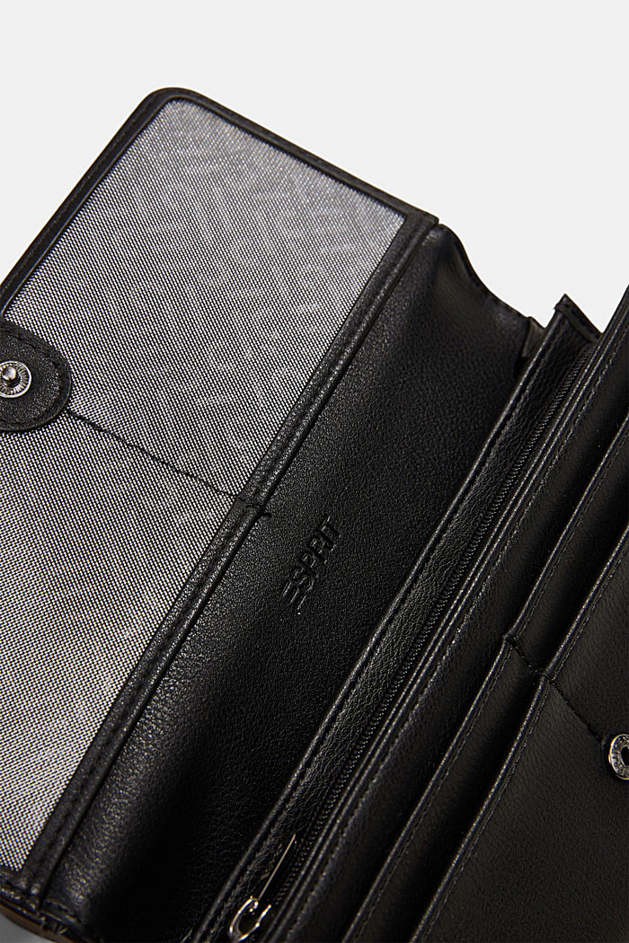 Vegan: Wallet with monogram, BLACK, detail image number 2