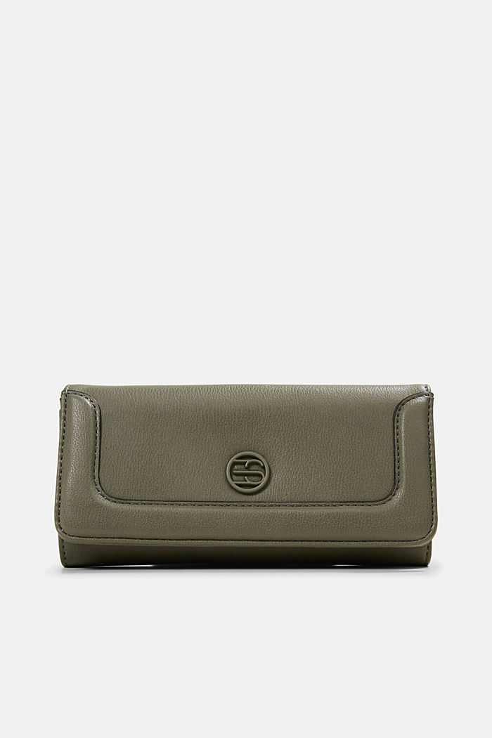 Vegan: Wallet with monogram, OLIVE, detail image number 0