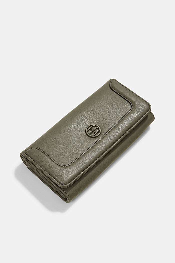 Vegan: Wallet with monogram, OLIVE, detail image number 4
