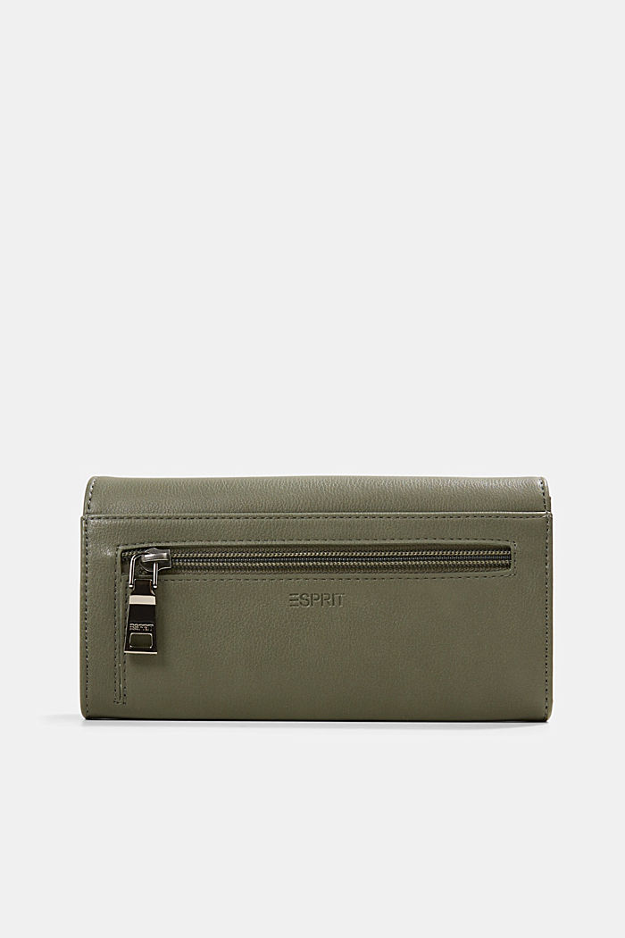 Vegan: Wallet with monogram, OLIVE, detail image number 2