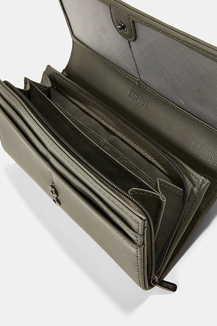 Vegan: Wallet with monogram, OLIVE, detail image number 3