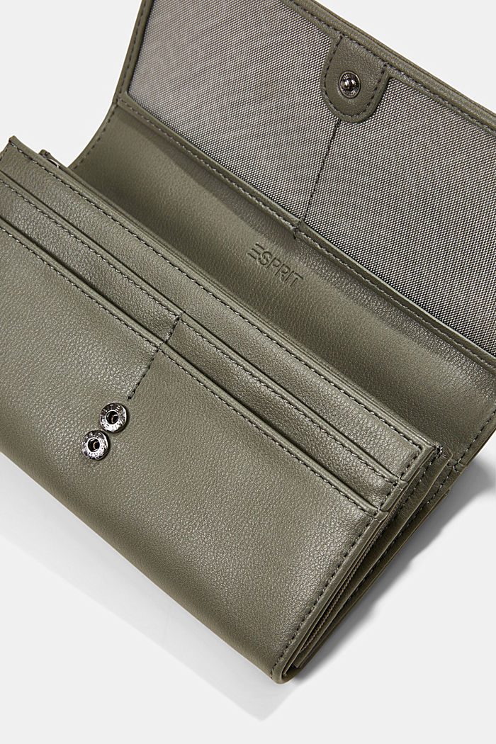 Vegan: Wallet with monogram, OLIVE, detail image number 1
