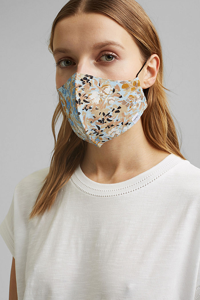 Face mask made of 100% organic cotton, SAND, detail image number 2