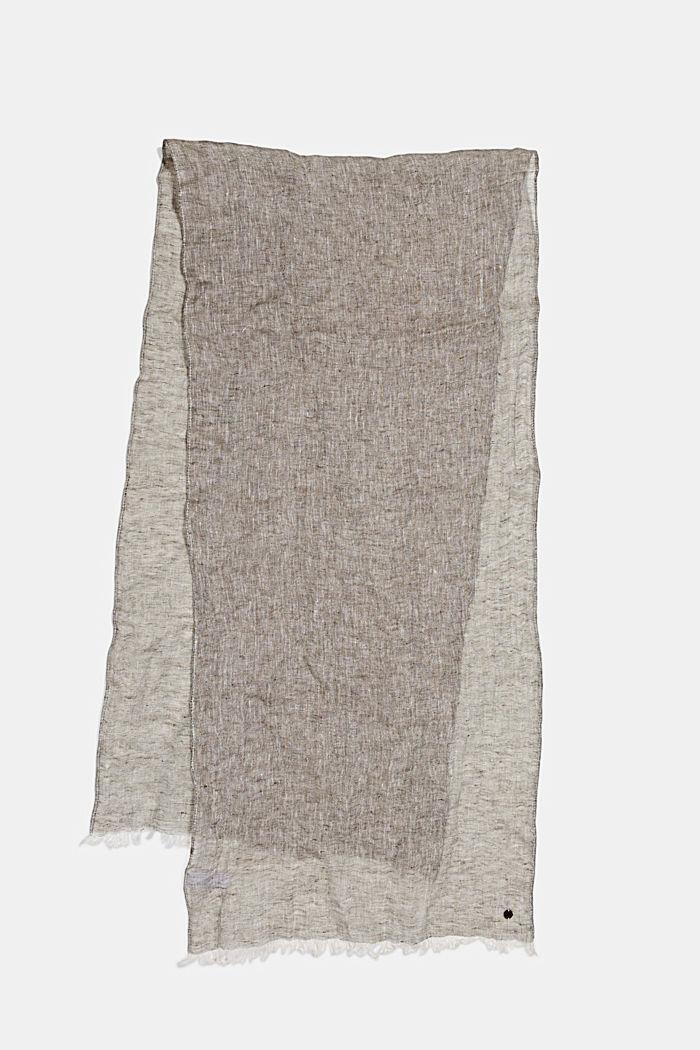 Schal aus 100% Leinen, KHAKI GREEN, detail image number 0