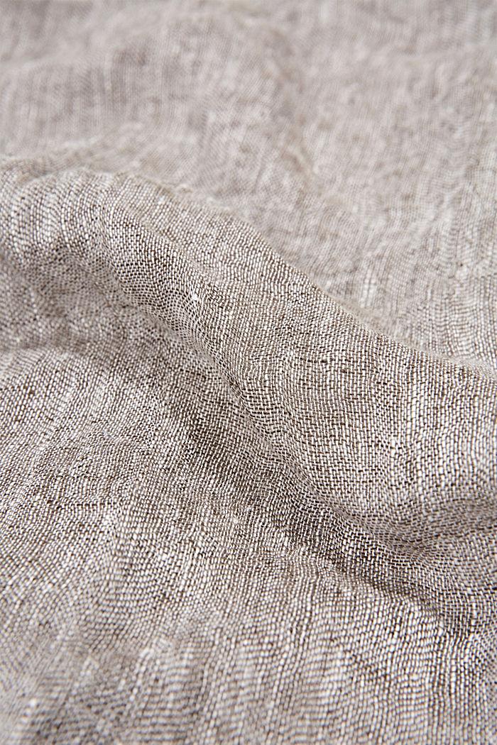 Schal aus 100% Leinen, KHAKI GREEN, detail image number 2