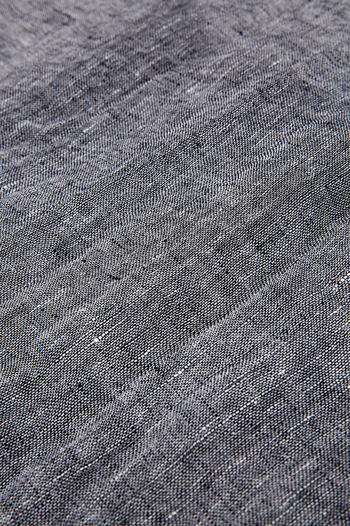 Scarf made of 100% linen, NAVY, detail image number 2