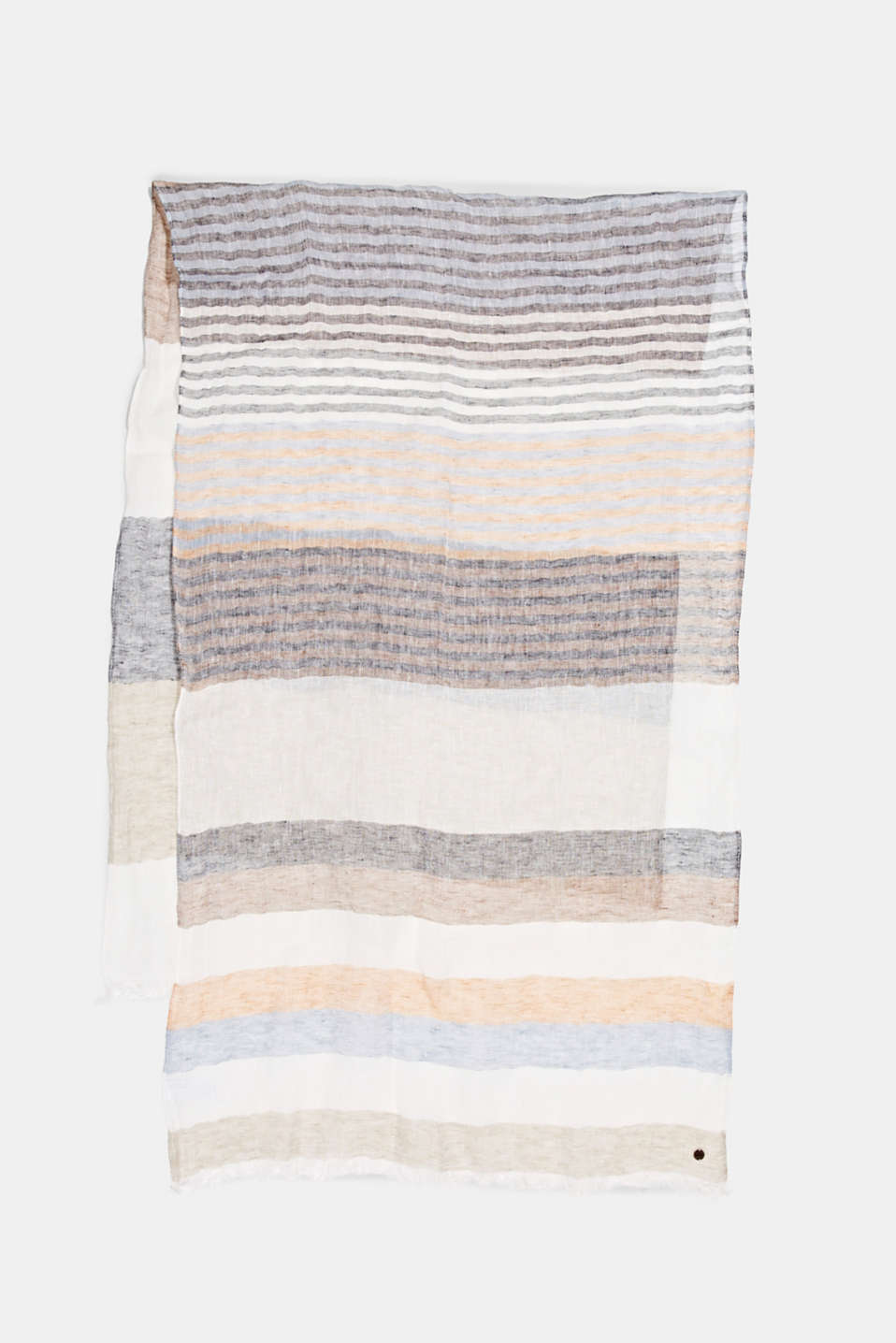 Esprit - Striped scarf made of 100% linen