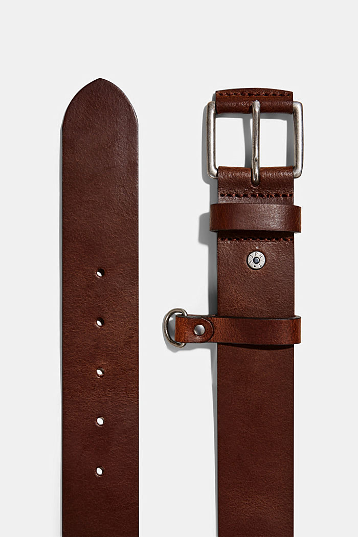 Belt made of chrome-free tanned leather, BROWN, detail image number 1