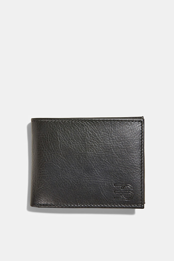 Wallet made of 100% chrome-free tanned leather, BLACK, detail image number 0