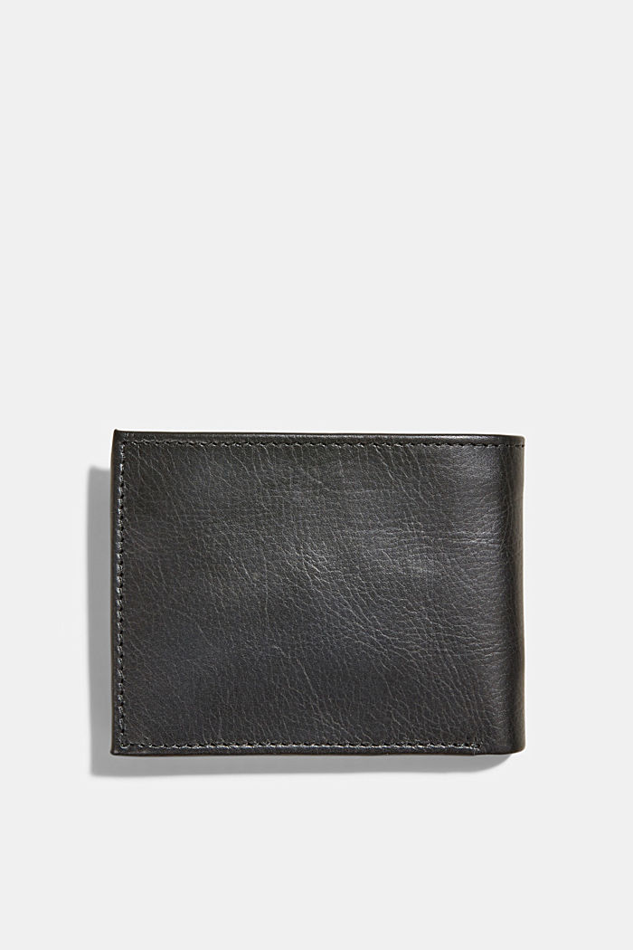 Wallet made of 100% chrome-free tanned leather, BLACK, detail image number 1