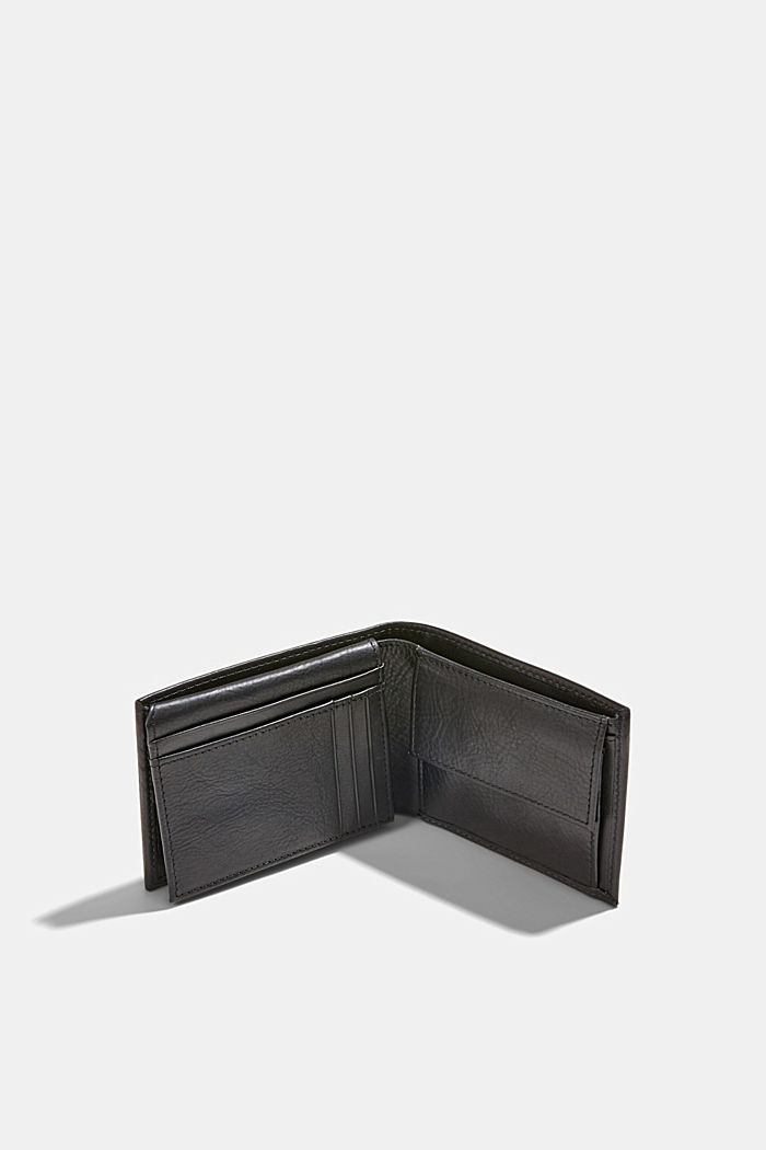 Wallet made of 100% chrome-free tanned leather, BLACK, detail image number 2