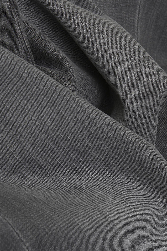 Stretch jeans containing organic cotton, GREY MEDIUM WASHED, detail image number 4