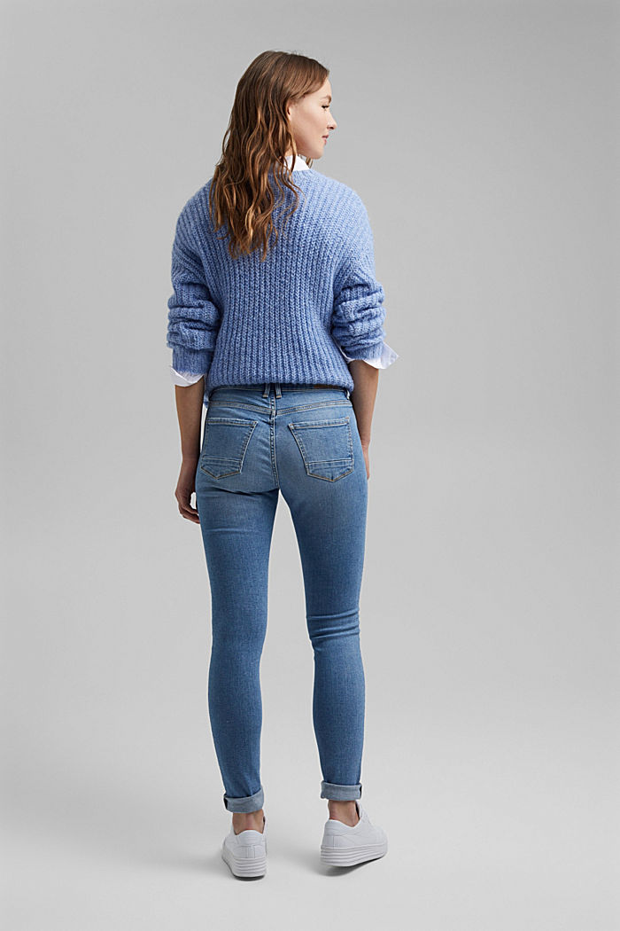 Stretch jeans containing organic cotton, BLUE LIGHT WASHED, detail image number 3