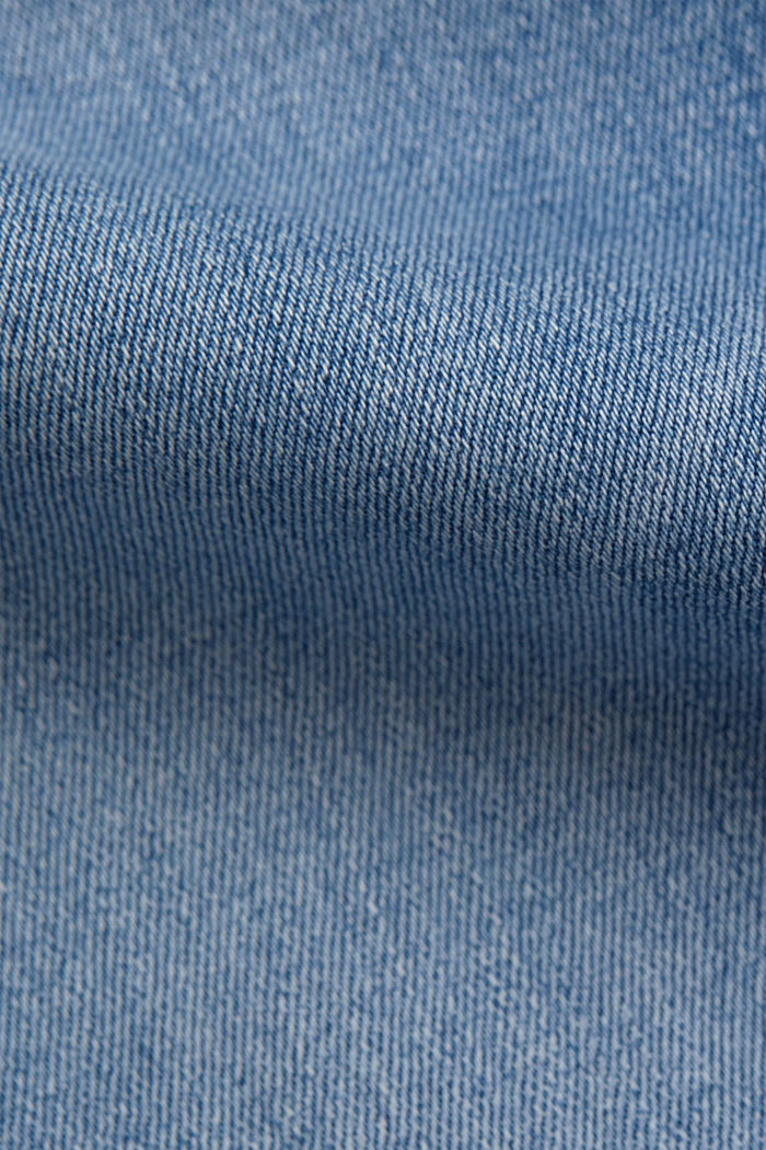 Stretch jeans containing organic cotton, BLUE LIGHT WASHED, detail image number 4