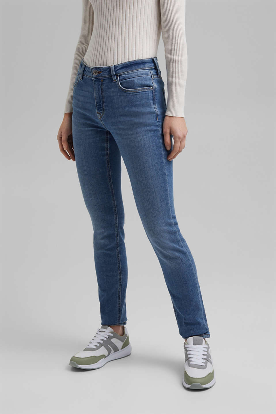 Esprit - Denim stretch in cotone biologico